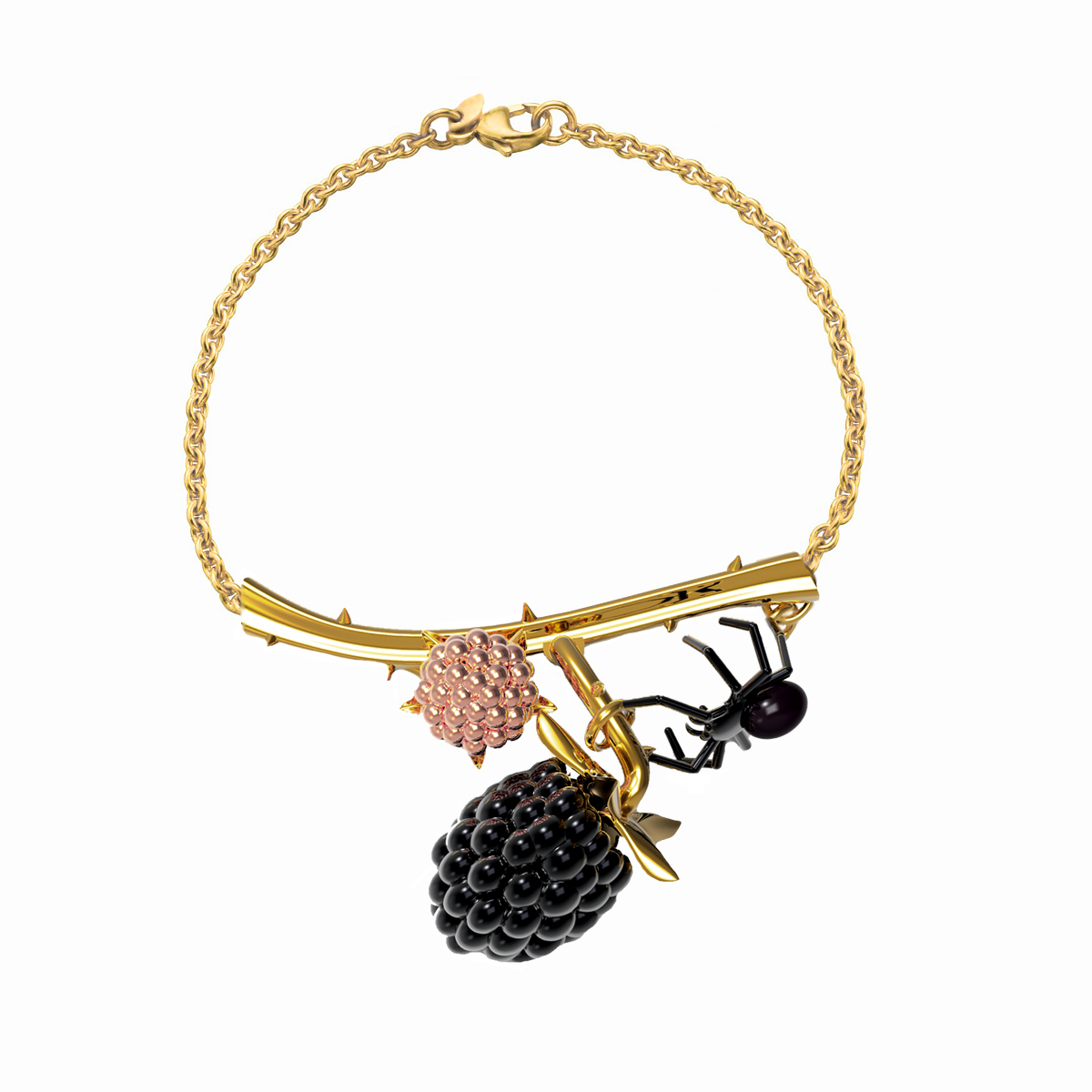 black berry bracelet with spider