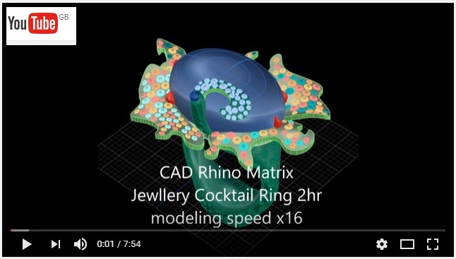 RECORDING OF DESIGNING JEWELLERY WITH CAD