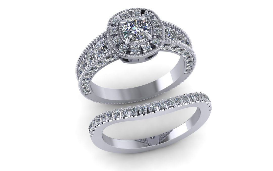 HALO RINGS & FITTED WEDDING BANDS